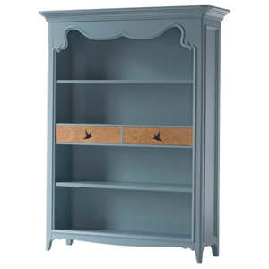 AIX Bookcase With 2 Drawers, Light Blue