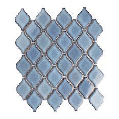 "9.88""x11.13"" Casablanca Porcelain Mosaic Floor/Wall Tile, Orion"