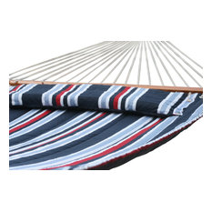 Smart Living Home U0026 Garden   Santorini Premium Reversible Double Hammock,  Navy Stripe And Solid