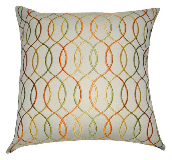 Loom And Mill P4040P 40x40 Orange Wavy Decorative Throw Interesting Loom And Mill Decorative Pillows