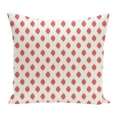 "Cop-Ikat Geometric Print Outdoor Pillow, Seed, 20""x20"""