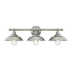 "Westinghouse 6354700 Iron Hill 3 Light 29""W Bathroom Vanity Light - Silver"