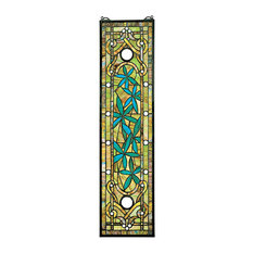 Asian Serenity Garden Stained Glass Window