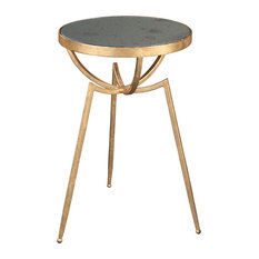Hekman 27643 18-inchW Iron Framed Accent Table - Gold