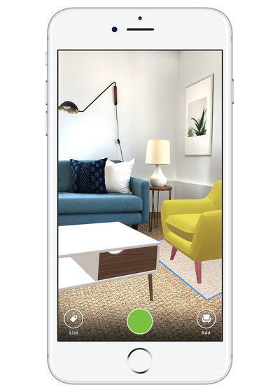 See Products Your Room With The Houzz Appu0027s Improved 3D Preview