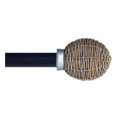 Basket Weave Curtain Rod, Rubbed Bronze