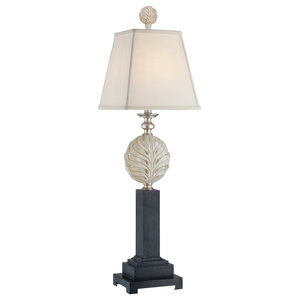 Silver and Black Traditional Table Lamp