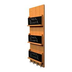 Sydney Wall Mounted 3-Tier Book Rack, Bisque Orange, White
