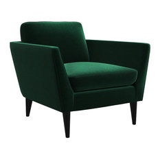 MOD - Jacinth Green Velvet Armchair - Armchairs and Accent Chairs
