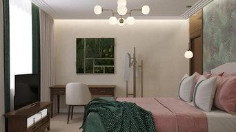 Интерьер спальни в ЖК «Репин Парк»