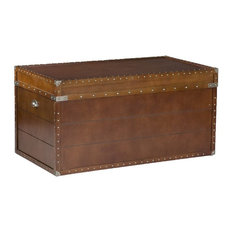 Most popular square trunk coffee tables houzz for 2018 houzz holly martin bristol trunk cocktail table coffee tables watchthetrailerfo