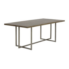 Jade Dining Table Antique Silver Ash Gray 79-inch