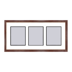 Mahogany Collage Picture Frame - 3 openings for 5X7 photos