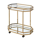 Acme Lacole Serving Cart, Champagne and Mirror