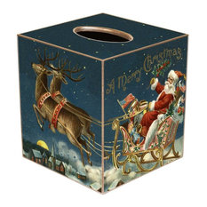 TB2611 - Santa and Reindeer Tissue Box Cover