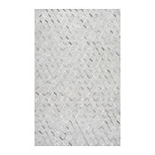 Handmade Modern Cowhide Trellis Leather/Viscose Area Rug, Gray, 9'x12'