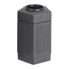 safco products safco canmeleon series pentagon receptacle small outdoor - Outdoor Trash Cans