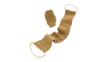 All Natural Hemp Back and Body Scrubber, Durable, Free Mitt