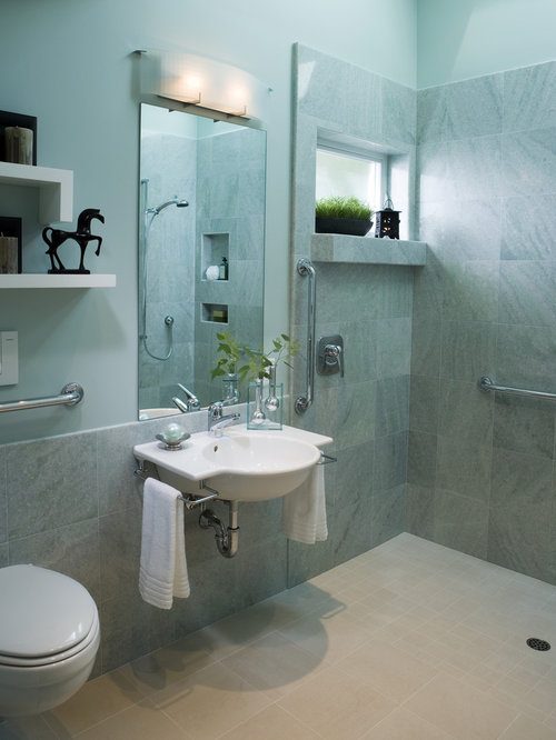 Handicap accessible bathroom designs houzz for Wheelchair accessible bathroom designs
