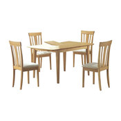 "Monarch Specialties Dining Table, 36""x48""x60"", Maple, With a Leaf, I4267"