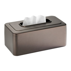 iDesign Olivia Tissue Box Cover, Bronze