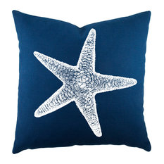 Starfish Pillow, Navy