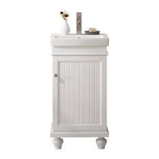"Legion Furniture Dawson Single Sink Vanity, White, 18"""