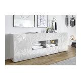 Prisma (white) 2 door 4 drawer sideboard