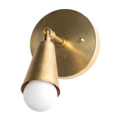 Gold Mid-Century Modern Adjustable Wall Sconce