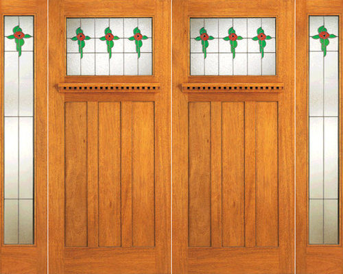 Arts and crafts front doors for Arts and crafts style front door