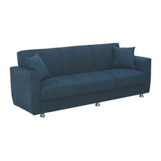 empire furniture empire furniture usa miami modern fold out convertible sofa bed sleeper blue - Fold Out Sleeper Chair