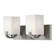 Canarm Palmer 2 Light Vanity in Brushed Nickel
