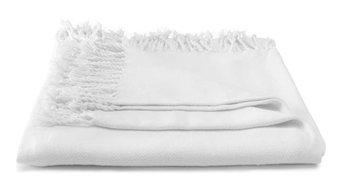 Pure Cotton Throw, Ivory