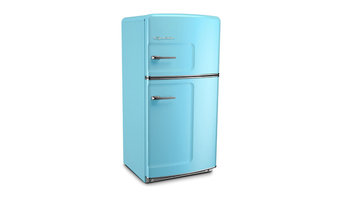 Retro Refrigerator, Beach Blue