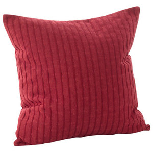 """Rorie Collection Classic Design Down Filled Cotton Throw Pillow, 20"""" Square"""