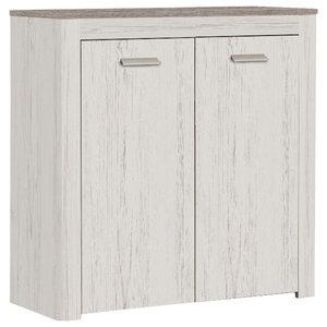 Brava 2-Door Storage Cabinet, Andersen Pine and Prata Oak