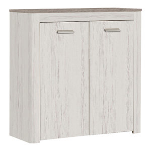Brava 2-Door Storage Cabinet, Andersen Pine and Prata Oak