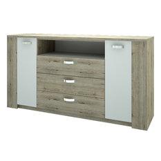 Virginia 2 Doors 3 Drawers Sideboard Sonoma Oak-White