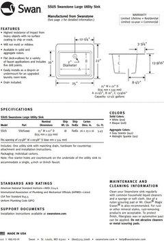25 Quot W X 22 Quot D Swanstone Utility Sink Transitional