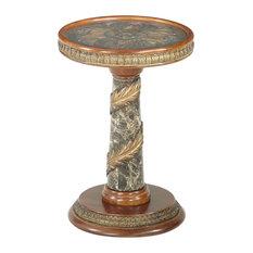 Michael Amini   AICO Villa Valencia Chair Side Table In Classic Chestnut    Side Tables And
