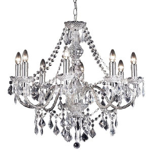 Clarence Classical Marie Therese Style 8-Arm Clear Acrylic Chandelier