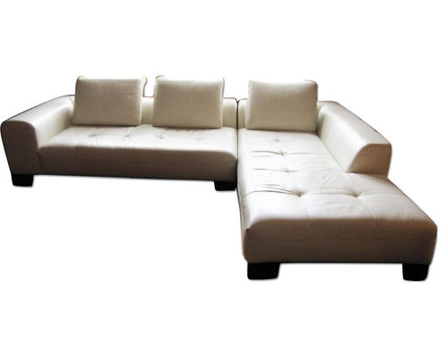 Z Gallerie White Leather Sectional Sofa Sofas
