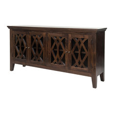 Leaza Sideboard 4 Door Antique Brown