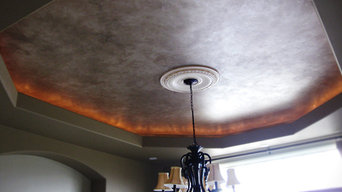 Marbled Metallic Faux Ceiling