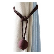 Curtain Straps Simple Cute Hanging Curtain Hook Tied Rope Single Ball Dark Color