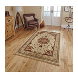 Heritage 4400 Cream Red Rectangle Traditional Rug 280x380cm