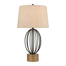 Stein World Old Oak Table Lamp 77123 - Black, Stained Pine
