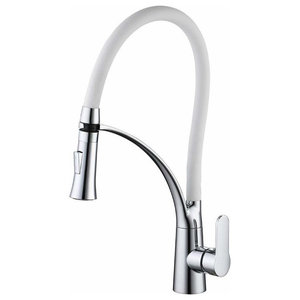 Modern Single Lever Kitchen Mixer Tap With Pull Out Spray 360 Swivel Spout