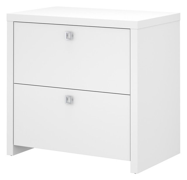 Echo Lateral File Cabinet, Pure White, Office By Kathy Ireland