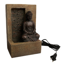 Pure Garden Tabletop Water Fountain, Sitting Buddha